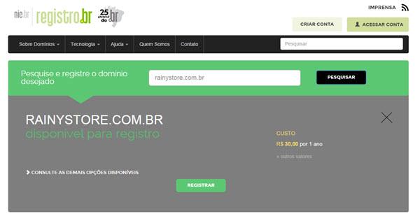 Como registrar um domínio no RegistroBR