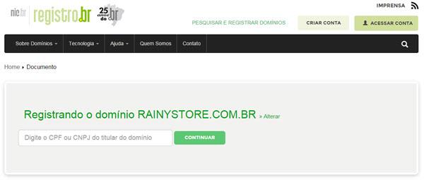 Como registrar um domínio no Registro BR