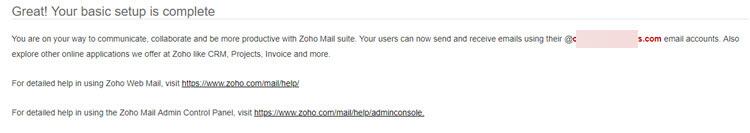 Usar Zoho Mail com domínio próprio