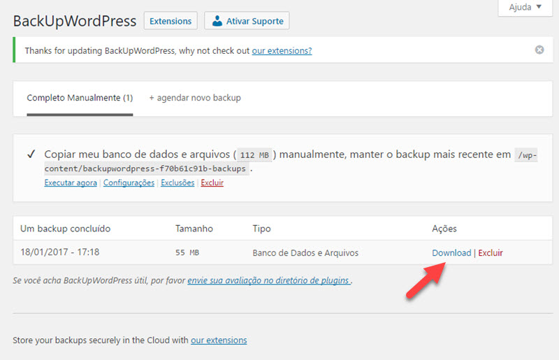 Como fazer backup do Blog WordPress em apenas alguns cliques