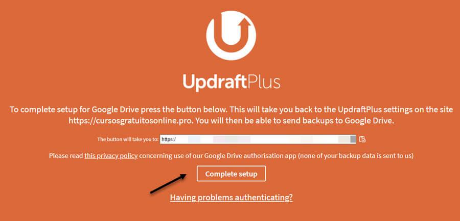Fazer backup do blog WordPress no Google Drive