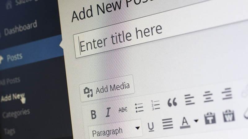 EScrever um post em um blog WordPress